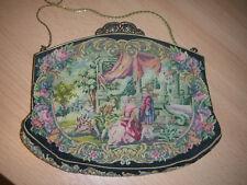 Tasche Gobelin Petit Point Lupenstickerei Handtasche Abendtasche 2 Bilder