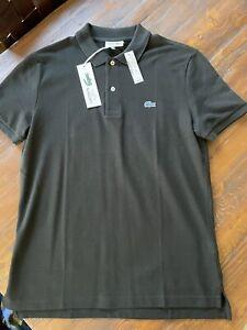 NWT J. Crew x Lacoste Polo Shirt Black Sz L Large Slim Fit Size 5