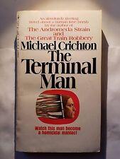 The Terminal Man: Michael Crichton, Bantam Books 1974 Suspense Thriller E-82