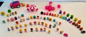 Lot of 92 Squinkies Blip Toys Cars Toy Story  Table chairs Barbie Car  14 balls