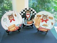 3 Sakura Gourmet Cats by Stephanie Stouffer Salad/Dessert Plates