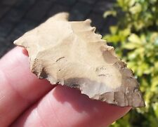 Louisiana Beige and Brown Kirk Stemmed Colored Chert Atl Atl  point .