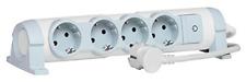 drehbare Steckdosenleiste mit Kontroll-Schalter EIN/AUS und LED-Beleuchtung, 4 S