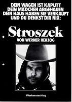 Kino # Original deutscher Werberatschlag # Stroszek # 1977 # Werner Herzog