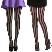 Sexy Womens Girls Lady Black Vertical Stripes Pattern Pantyhose Stockings Tights