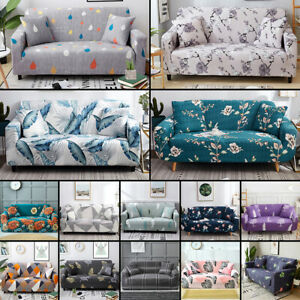 1/2/3/4 Seater Sofa Covers Slipcover Settee Stretch Floral Couch Protector Decor