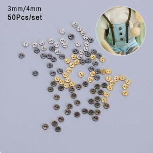 50pcs Clothing 2-Holes Apparel Sewing Round Buttons Doll Button Sewing Button UK