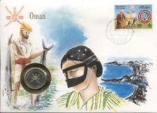 superbe enveloppe OMAN pièce monnaie UNC NEW timbre