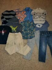 Lot Of 11 Boy's Spring Clothes Sweaters Pants Size 6
