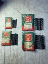 Set Of 43 New Old Stock High Speed Straight Shank Drill Bits By Standard Tool Co