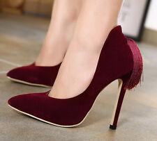 Décollte Scarpe decolte donna tacco spillo 11 cm stiletto eleganti rosso 9204