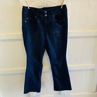 Torrid Womens Relaxed Boot Cut Jeans Plus Size 18 R Dark Wash  Denim