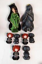 Rare Disney Brave Merida Queen Elinor Doll & Transforming Triplets In Cases
