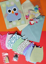 Sissix Owl card making packs. 8 owls plus cards/envelopes and decorations.Value!