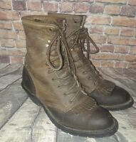 Aero Glide Brown Leather distressed  Women's Lace-Up Boots size 7