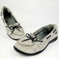 Dr. Andrew Weil Discovery Womens Grey Suede Comfort Orthaheel Loafers Shoes 8.5