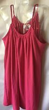 LaRok Girls Fuchsia Pink Skinny Shoulder Straps Shift Dress Size Large 12 -New