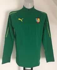 CAMEROON 1/4 ZIP GREEN TRAINING TOP BY PUMA SIZE MEN'S MEDIUM BRAND NEW