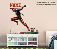 Personalized Deadpool Wall Decal (Removable and Replaceable)