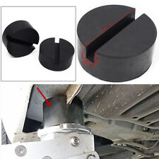 New 2pcs Slotted Rail Floor Jack Disk Rubber Pad Adapter for Pinch Weld Side Hot