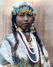 "WISHHAM INDIAN BRIDE 1910 NATIVE AMERICAN INDIAN 8x10"" HAND COLOR TINTED PHOTO"