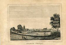 Rare Original Antique 1878 Portuguese Print - Colmar , France