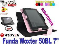 "FUNDA GIRATORIA  PARA TABLET WOXTER 50BL 7"" 50 BL UNIVERSAL BARATA STAND LIBRO"