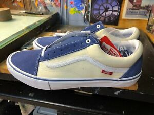Vans Old Skool Pro Sty Navy Classic White Suede Canvas Size US 13 Men New