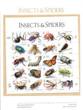 #584 33c Insects & Spiders MS20 #3351 Stamp Panel