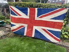More details for vintage 'tea stained' union jack flag