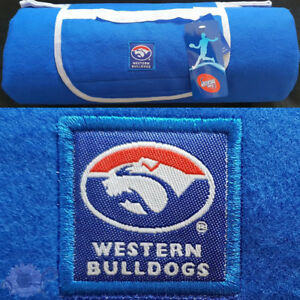 Western Bulldogs AFL Picnic Rug Polar Fleece Front | Water Resistant Backing