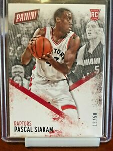 2016-17 Panini Day Pascal Siakam Thick Stock Rookie Rc #62 /50