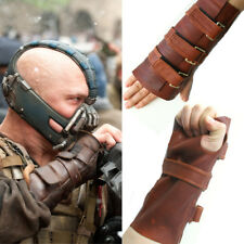 Bane Wrist Brace Guard TDKR Cosplay Costume Leather Hand Gauntlet Gloves XCOSER