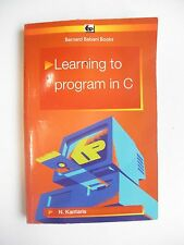 N Kantaris Learning to program in C