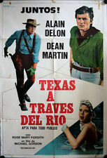 Texas Across the River A Traves del Rio Argentina movie poster Dean Martin Delon