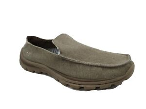 Skechers Superior Relaxed Fit Taupe Slip-On Comfort Shoes Men's Size 9.5 M US