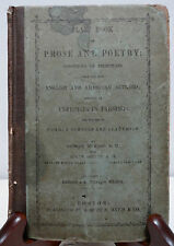 CLASS BOOK OF PROSE AND POETRY English and American Authors 1878 Rickard Orcutt