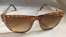 Tortoise Colored Frame 100% UV Sport Sunglasses With Ornate Metal Ear Pieces-New