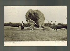 1943 Occupied Jersey England Picture Postcard First Day Cover Hay Cart FDC