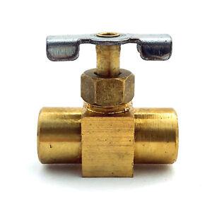 "Brass Needle Valve ¼"" Female to Female, NPT   Parker NV109P-4   1 pc"