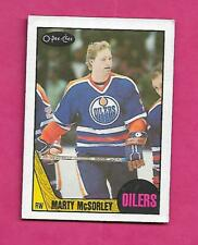 1987-88 OPC # 205 OILERS MARTY MCSORLEY  ROOKIE EX+ CARD (INV# C2067)
