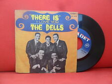 THE DELLS There Is / I Love You 7/45 Northern Soul RARE ITALY UNIQUE PS PRESS