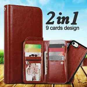 Iphone 7 / IPhone 8 leather case / detachable magnetic phone holder / 6 colours