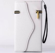 iPhone 6 6s plus Luxury Wallet PU Leather Case Zipper Card Holder Cover WHITE