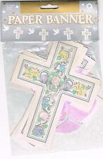 guirlande croix et colombe couleur pastel decoration ceremonie theme mariage