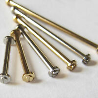 2 x WATCH STRAP SCREW BAR/LUG 1.2mm Diameter Steel or Gold Plate Sizes 8 - 28mm