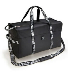 Brand New! Versace Black Weekend Duffle Holdall Bag Mens Gym/overnight/holiday