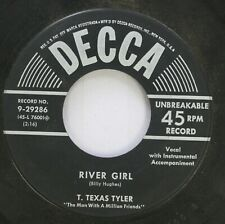 Country 45 T. Texas Tyler - River Girl / Golden Wristwatch On Decca Records, Inc