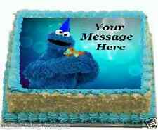 Cookie Monster Seasame Street Cake topper edible image icing birthday FONDANT A4