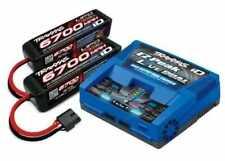 Traxxas 2997 EZ-Peak Plus ID Charger w/ 2 6700mAh 25C 4S 14.8V LiPo Batteries